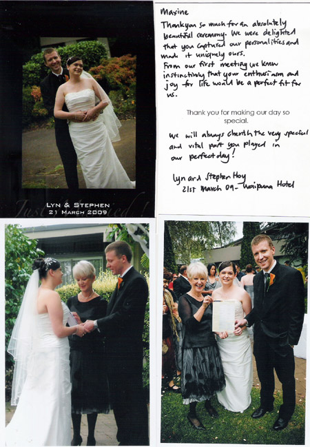 New Zealand wedding celebrant Auckland